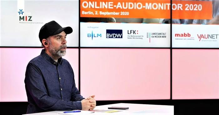 Michael Praetorius führte durch den Livestream zum OAM20 (Foto: Screenshot)